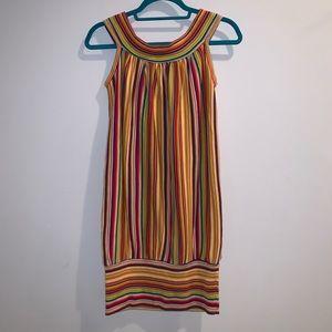 Vintage rainbow knit bubble dress